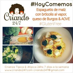 Criando247 Receta Fácil Espaguetis brocoli queso Burgos GlutenFree