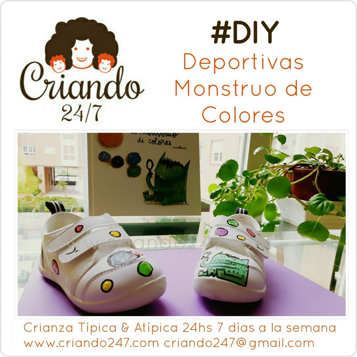 #DIY Customizando unas Deportivas con el Monstruo de Colores