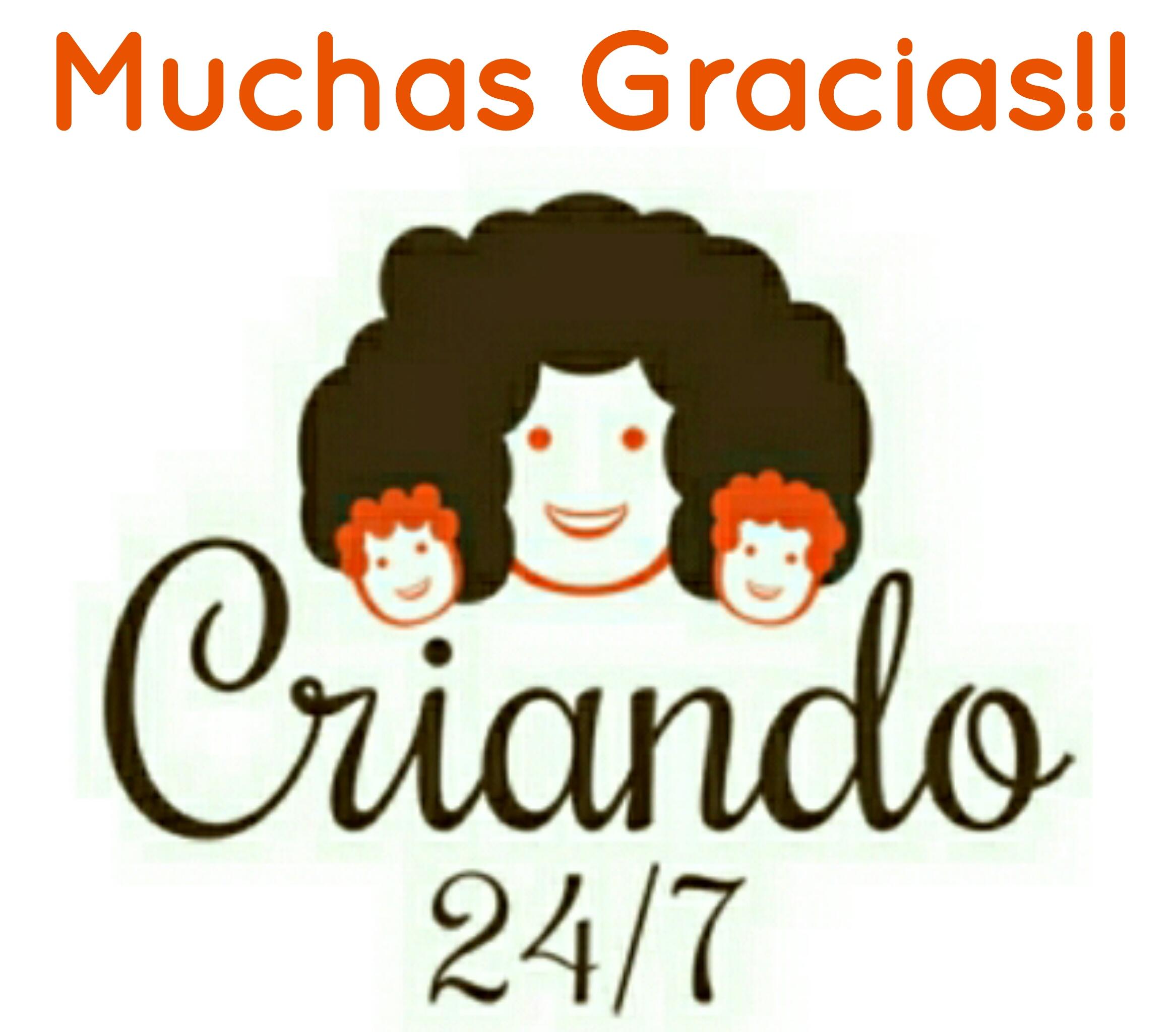 Logo de Criando 24/7 con el texto ¡Muchas gracias!