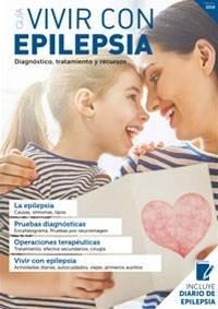 portada de la guía vivir con epilepsia, donde se ve una niña y una mujer mirándose a los ojos mientras sostienen una tarjeta con un corazón pintado de rojo.